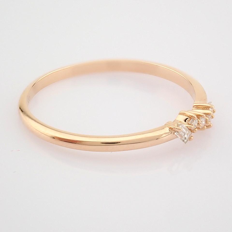 HRD Antwerp Certified 14K Rose/Pink Gold Baguette Diamond & Diamond Ring (Total 0.07 Ct. Ston... 14K - Image 4 of 8