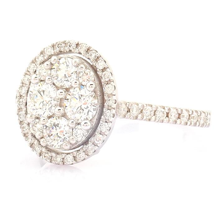 HRD Antwerp Certified 18K White Gold Diamond Ring (Total 0.89 Ct. Stone) 18K White Gold Ring - Image 8 of 13