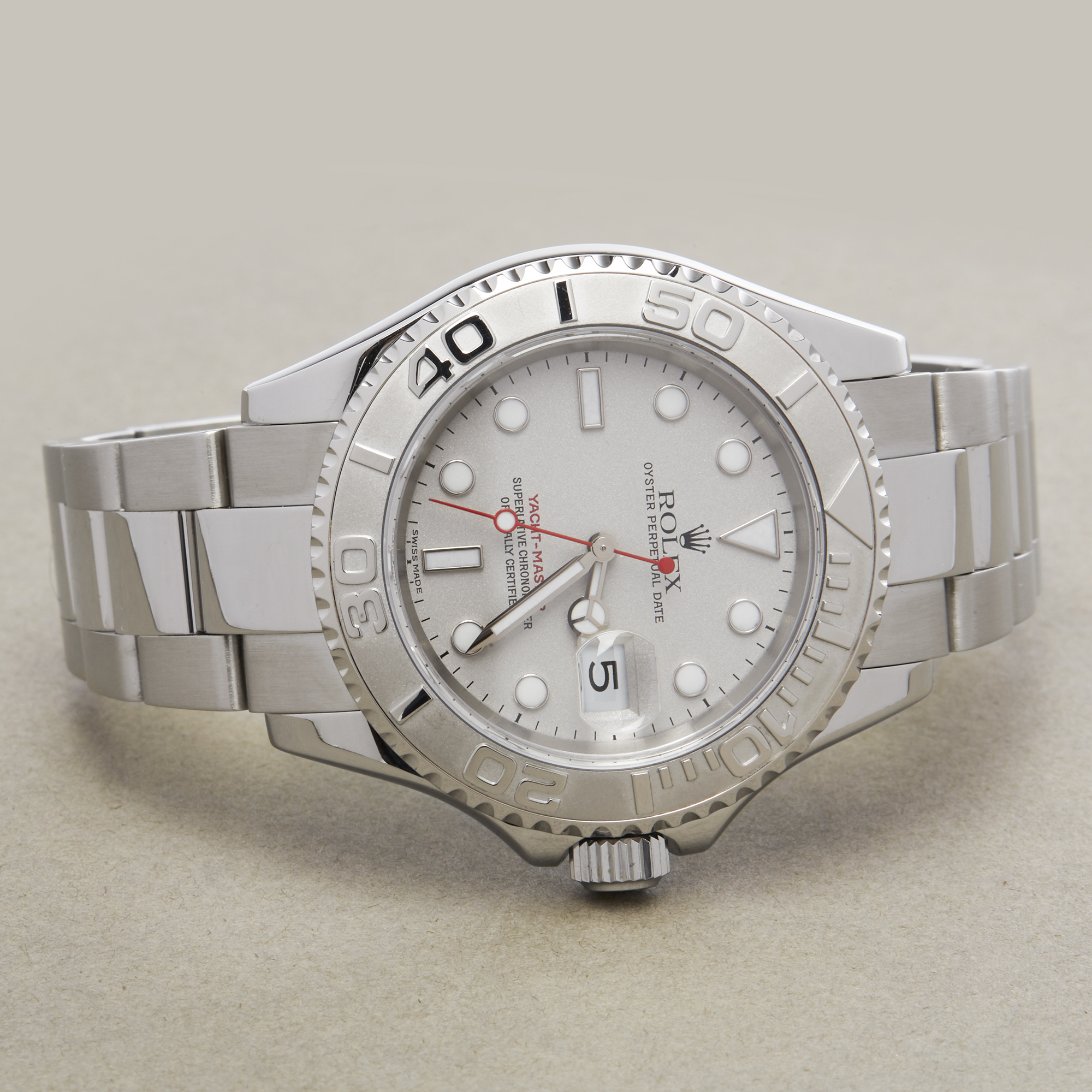 Rolex Yacht-Master 40 16622 Men's Stainless Steel Watch - Image 8 of 10