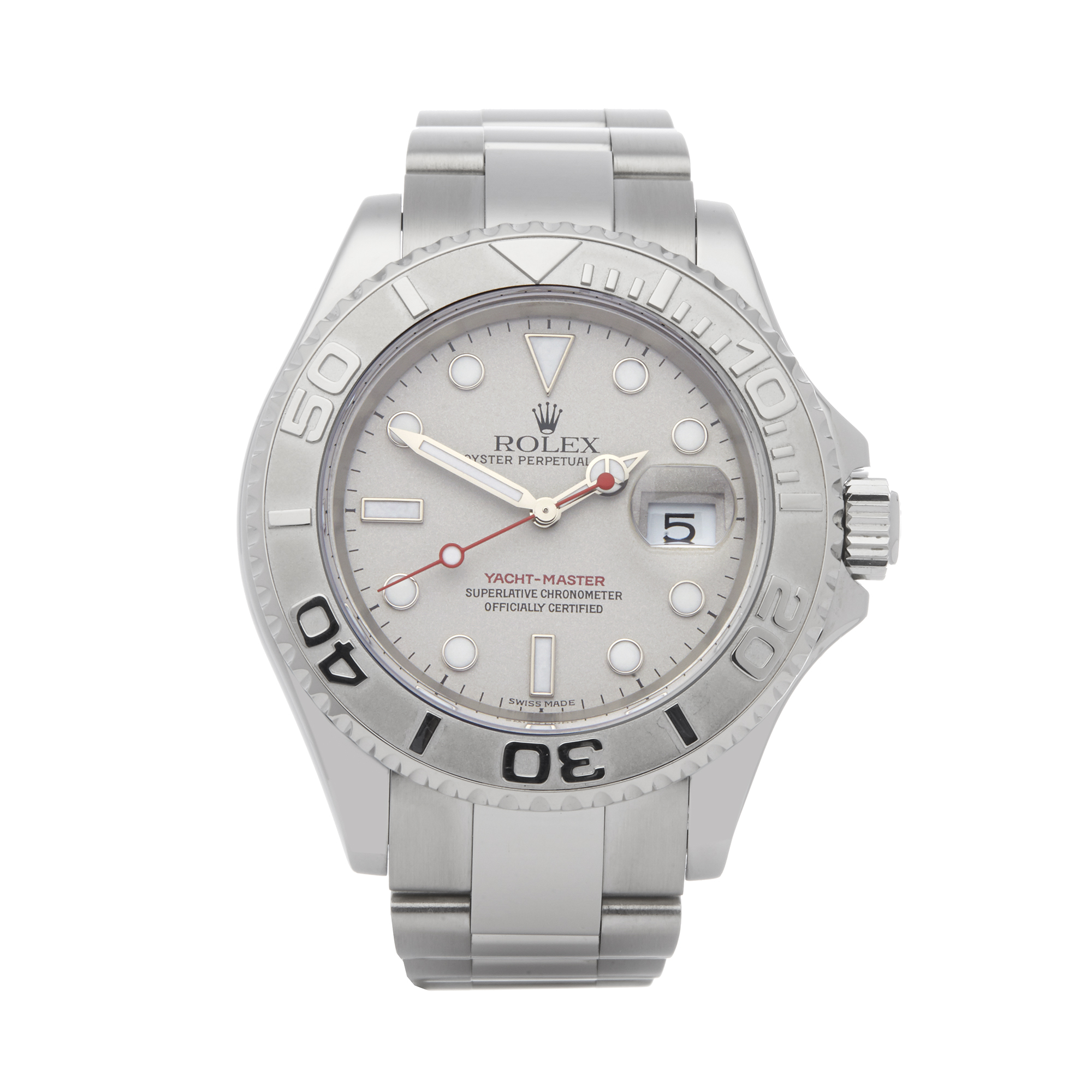 Rolex Yacht-Master 40 16622 Men's Stainless Steel Watch - Image 10 of 10