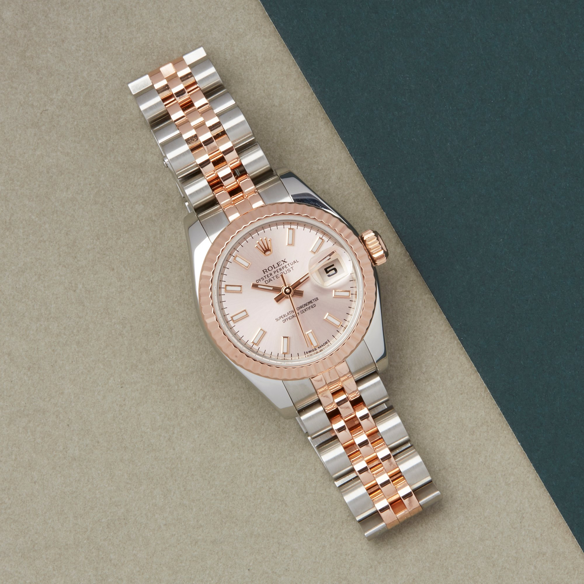 Rolex Datejust 26 179171 Ladies Rose Gold & Stainless Steel Watch - Image 7 of 10