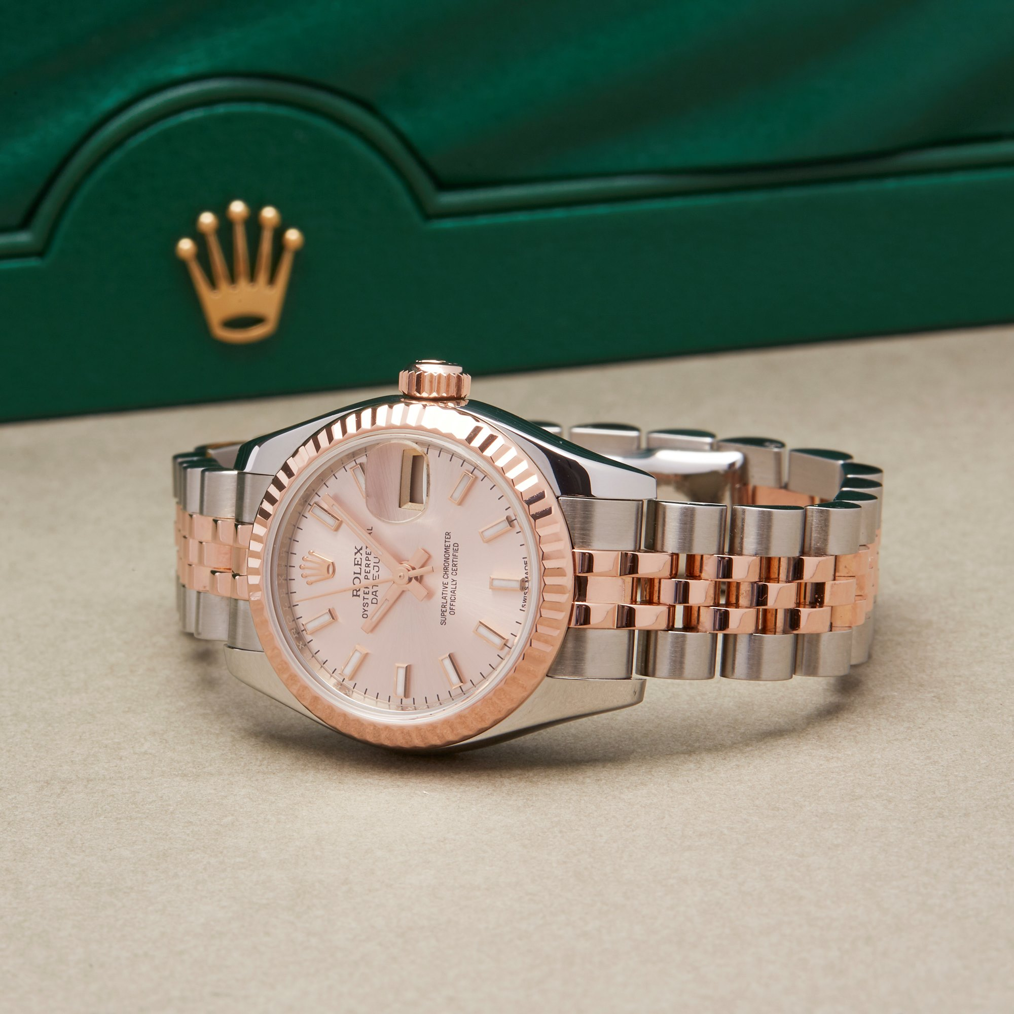 Rolex Datejust 26 179171 Ladies Rose Gold & Stainless Steel Watch - Image 2 of 10