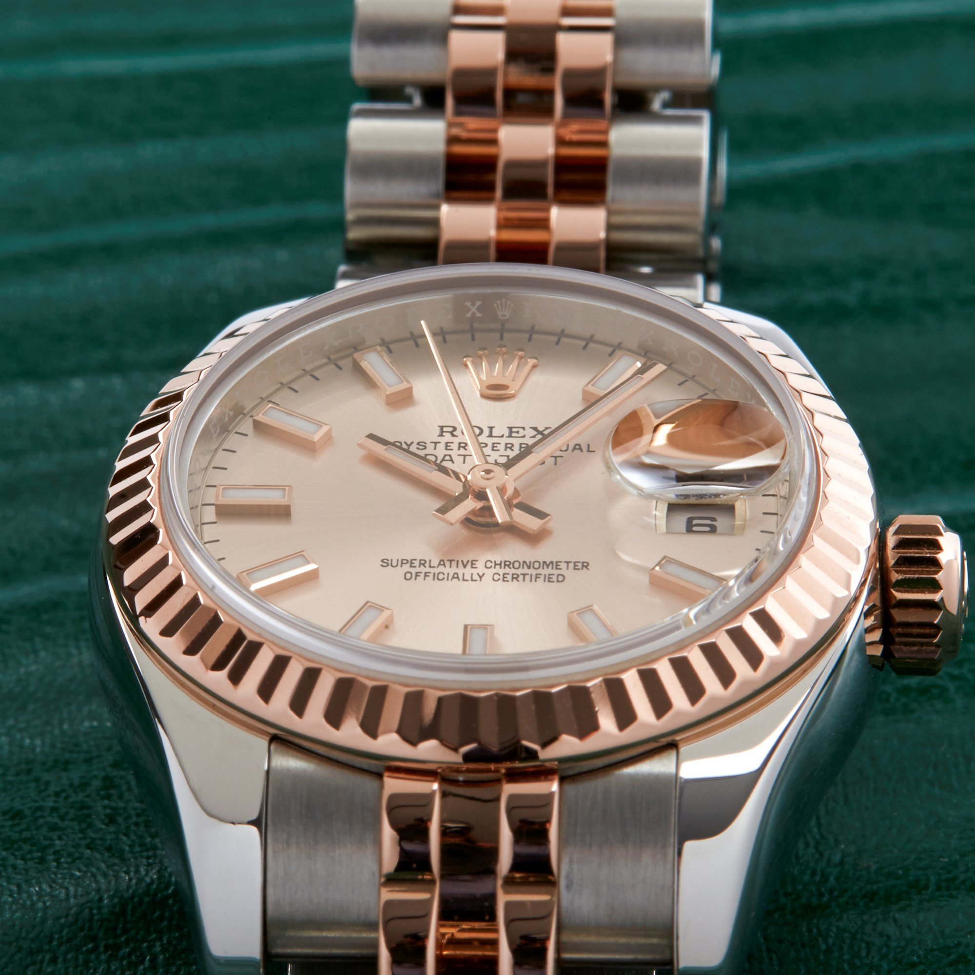 Rolex Datejust 26 179171 Ladies Rose Gold & Stainless Steel Watch - Image 10 of 10
