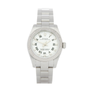 Rolex Oyster Perpetual 26 176234 Ladies Stainless Steel Diamond Watch