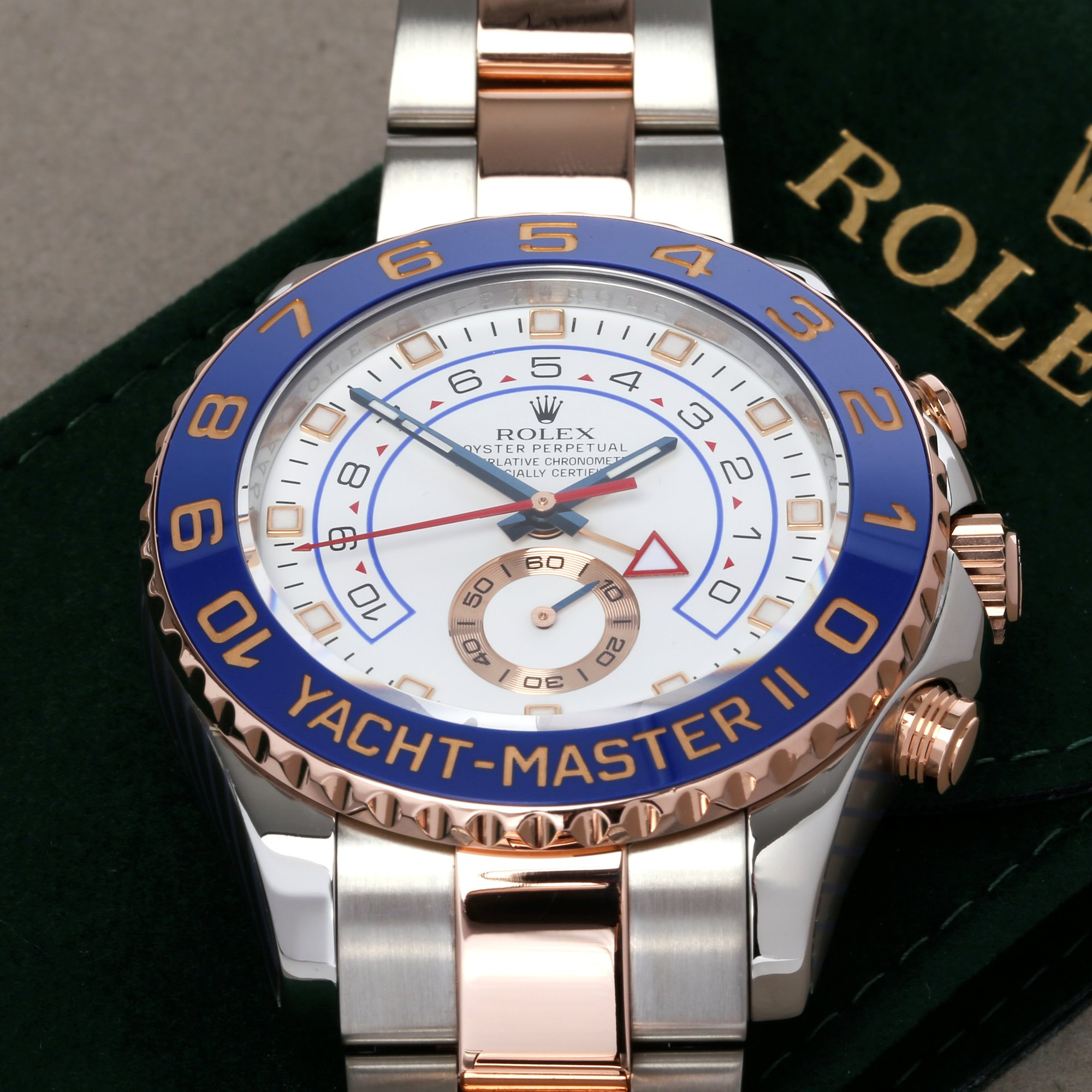 Rolex Yacht-Master II 116681 Men's Rose Gold & Stainless Steel Watch - Image 6 of 10