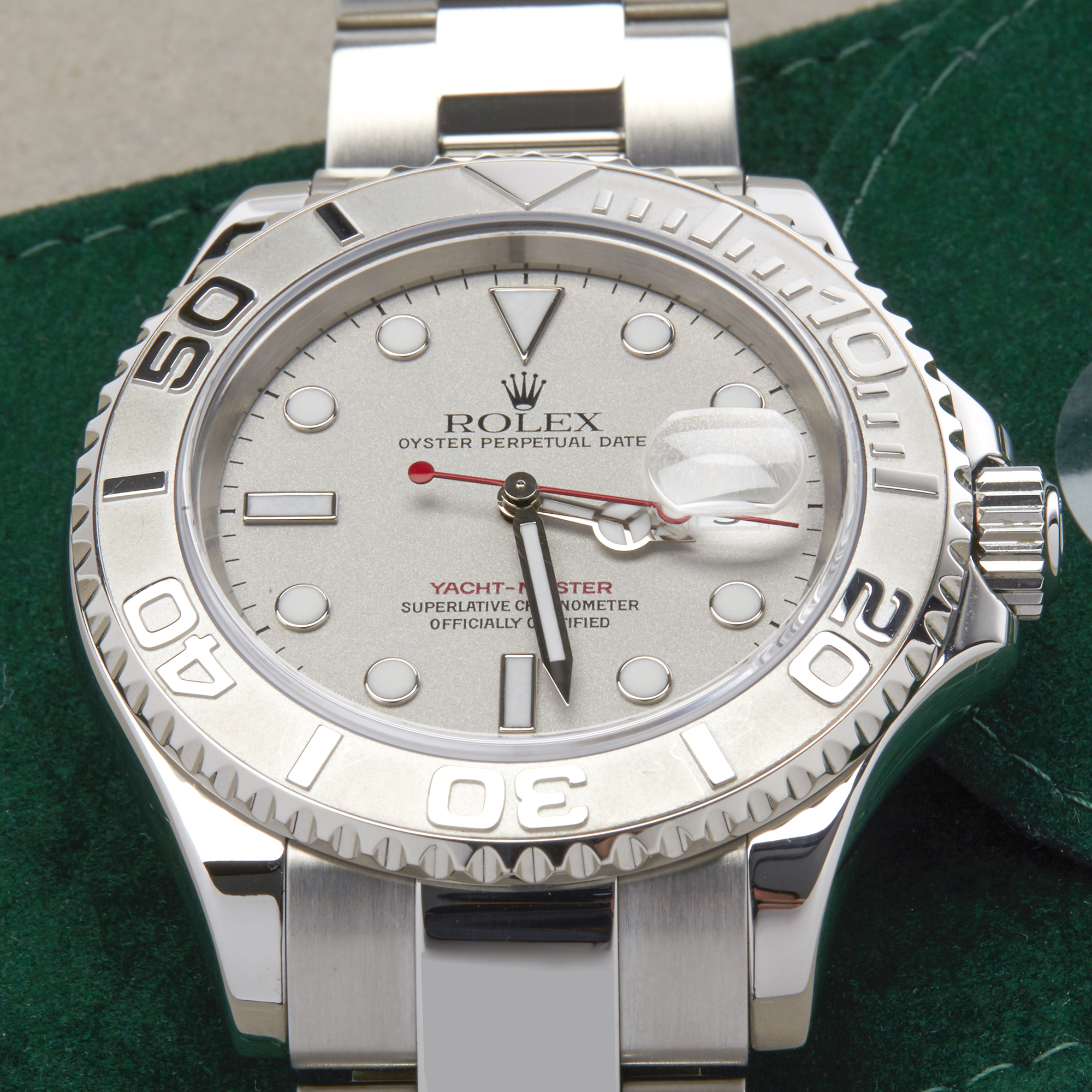 Rolex Yacht-Master 40 16622 Men's Stainless Steel Watch - Image 7 of 10