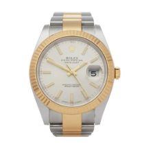 Rolex Datejust 41 126333 Men's Yellow Gold & Stainless Steel Partially Stickered NOS Watch