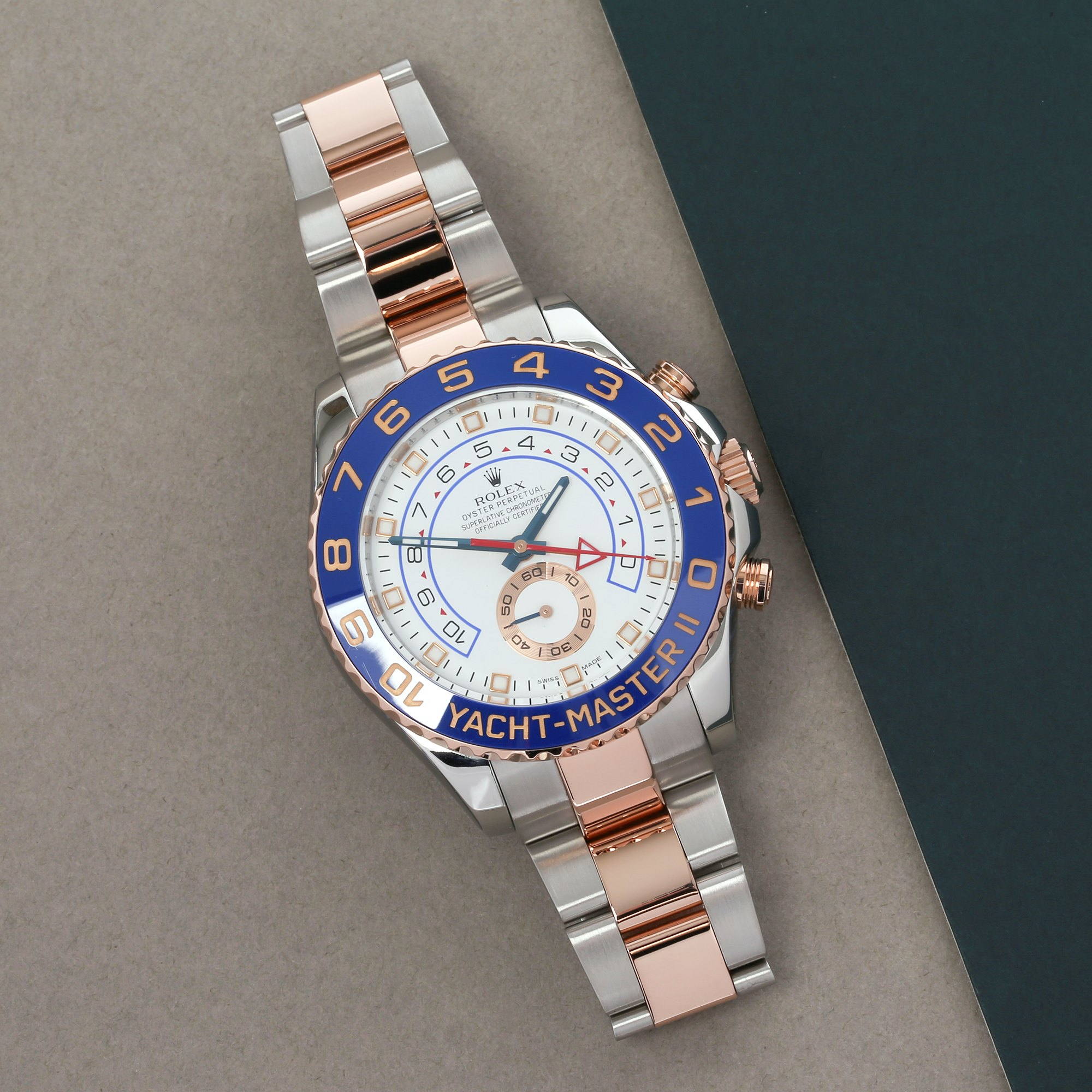 Rolex Yacht-Master II 116681 Men's Rose Gold & Stainless Steel Watch - Image 10 of 10