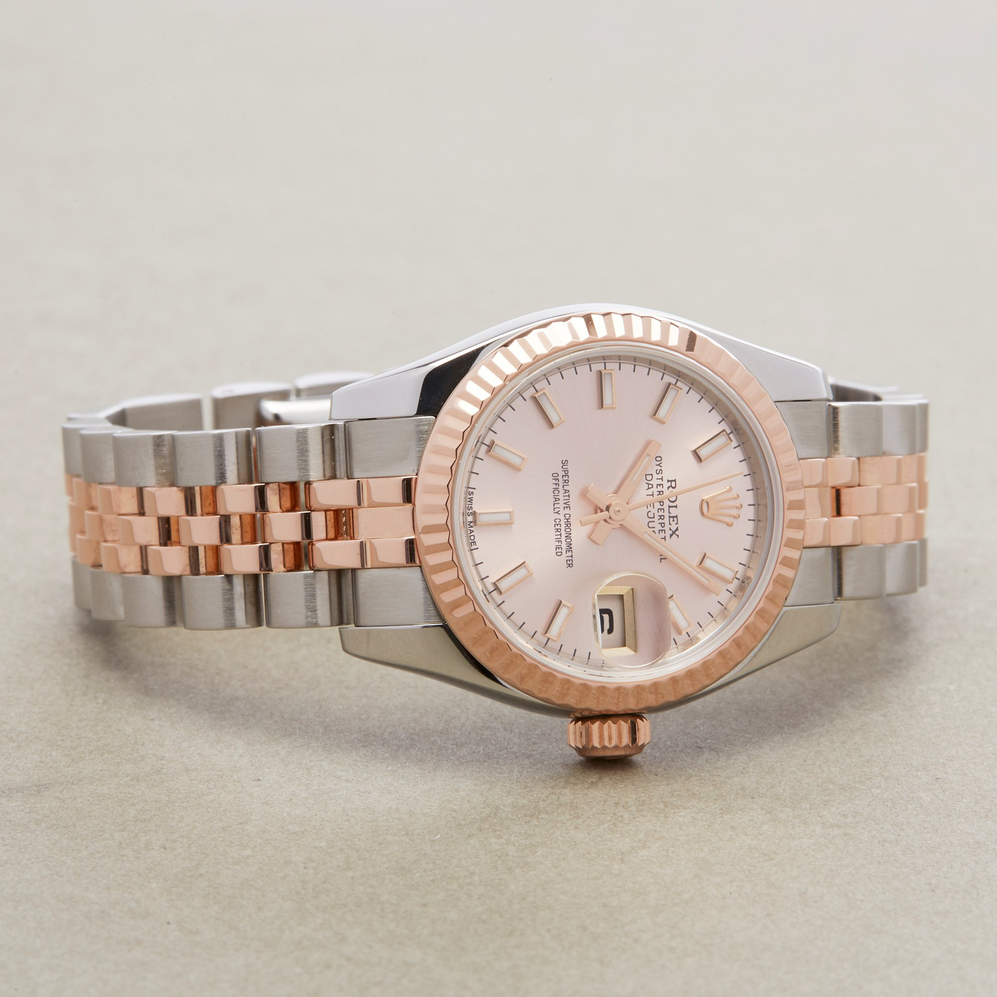 Rolex Datejust 26 179171 Ladies Rose Gold & Stainless Steel Watch - Image 9 of 10