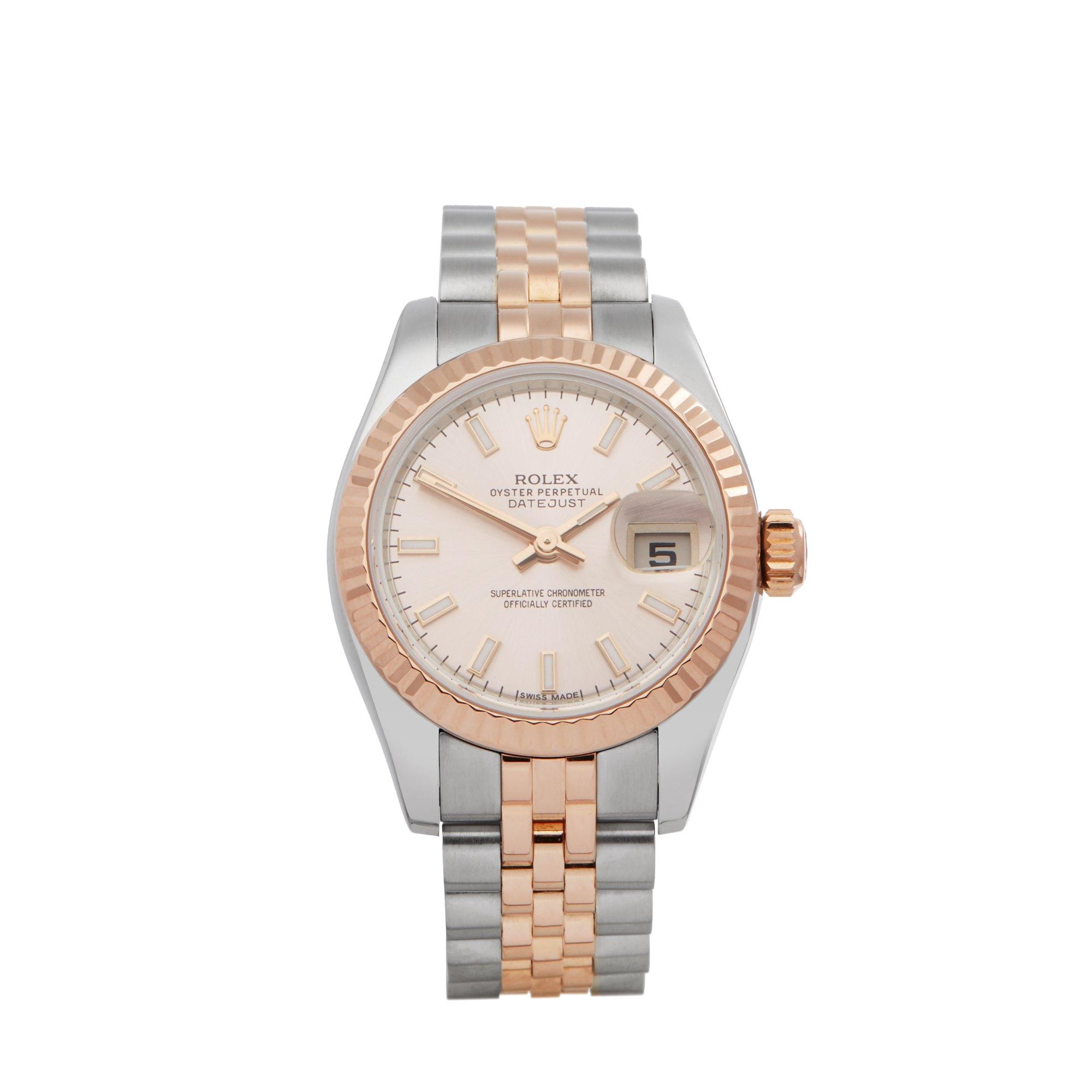 Rolex Datejust 26 179171 Ladies Rose Gold & Stainless Steel Watch