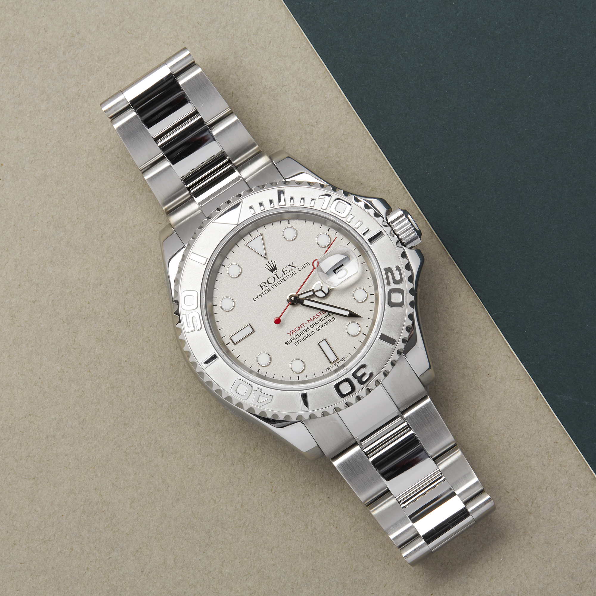 Rolex Yacht-Master 40 16622 Men's Stainless Steel Watch - Image 9 of 10