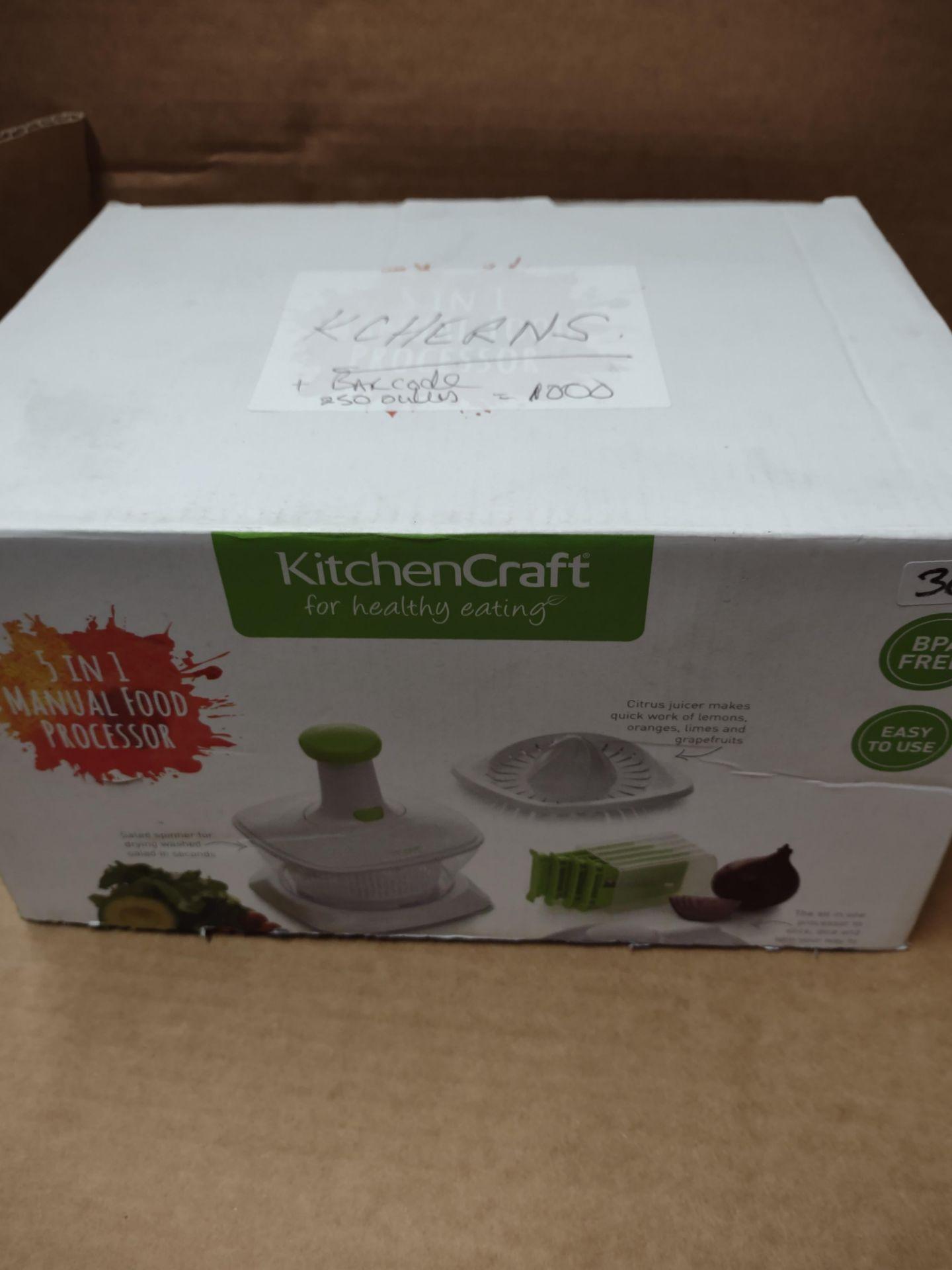 KitchenCraft 5 in 1 manual food processor RRP £19.99 Grade U