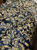 3 x gold and blue floral bed runners with tassles RRP £60 Grade B