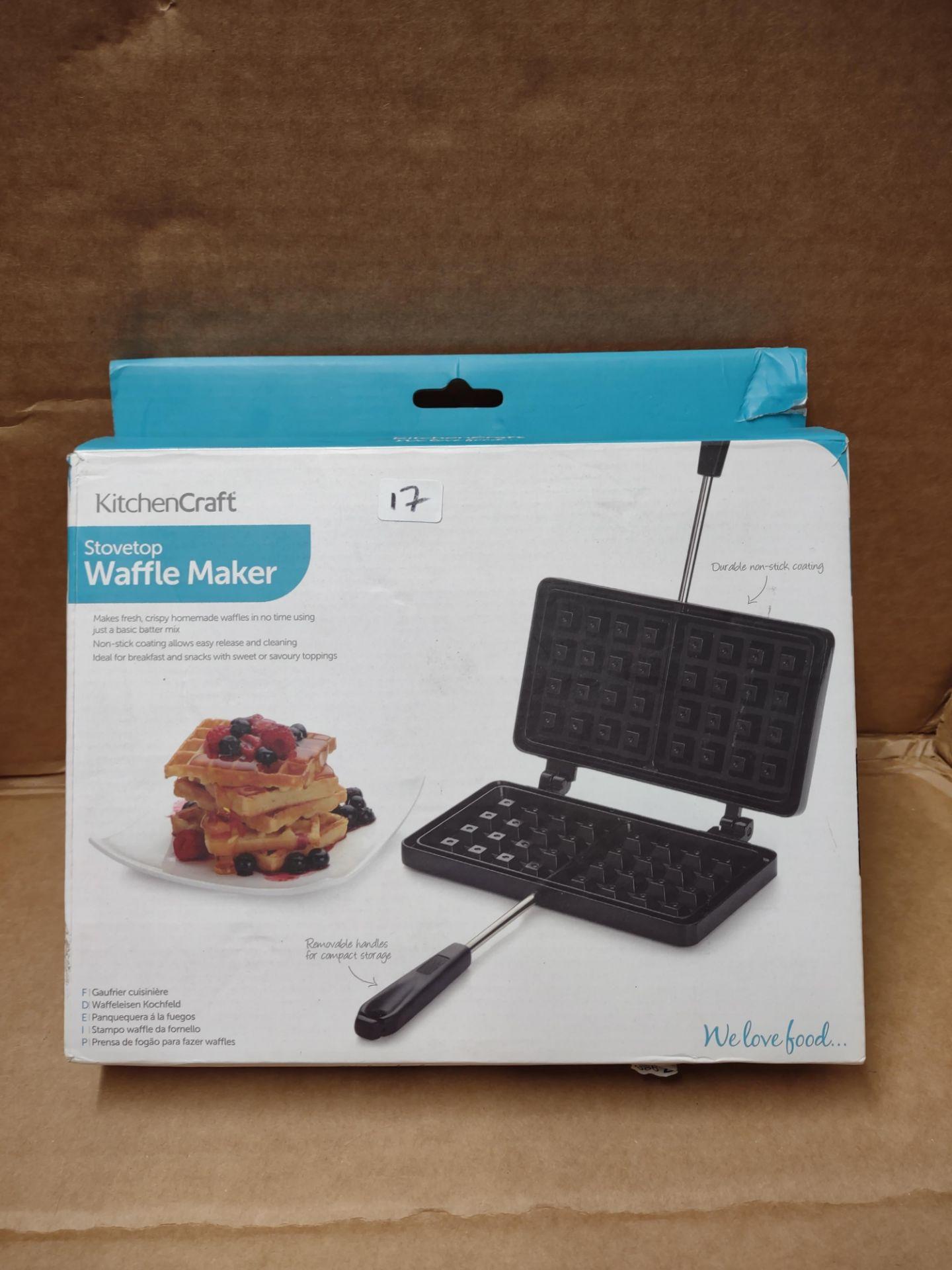 KitchenCraft Stovetop waffle maker RRP £24.99 Grade U