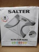 Salter ultra slim glass scales- RRP £20 Grade U