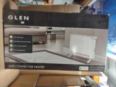 Glen 2kw convector heater RRP £30 Grade U