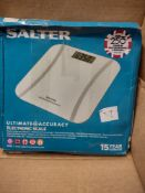 Salter Ultimate accuracy electronic scales – RRP £29.99 Grade U