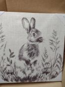 Canvas of Hare/Rabbit RRP £20 Grade A