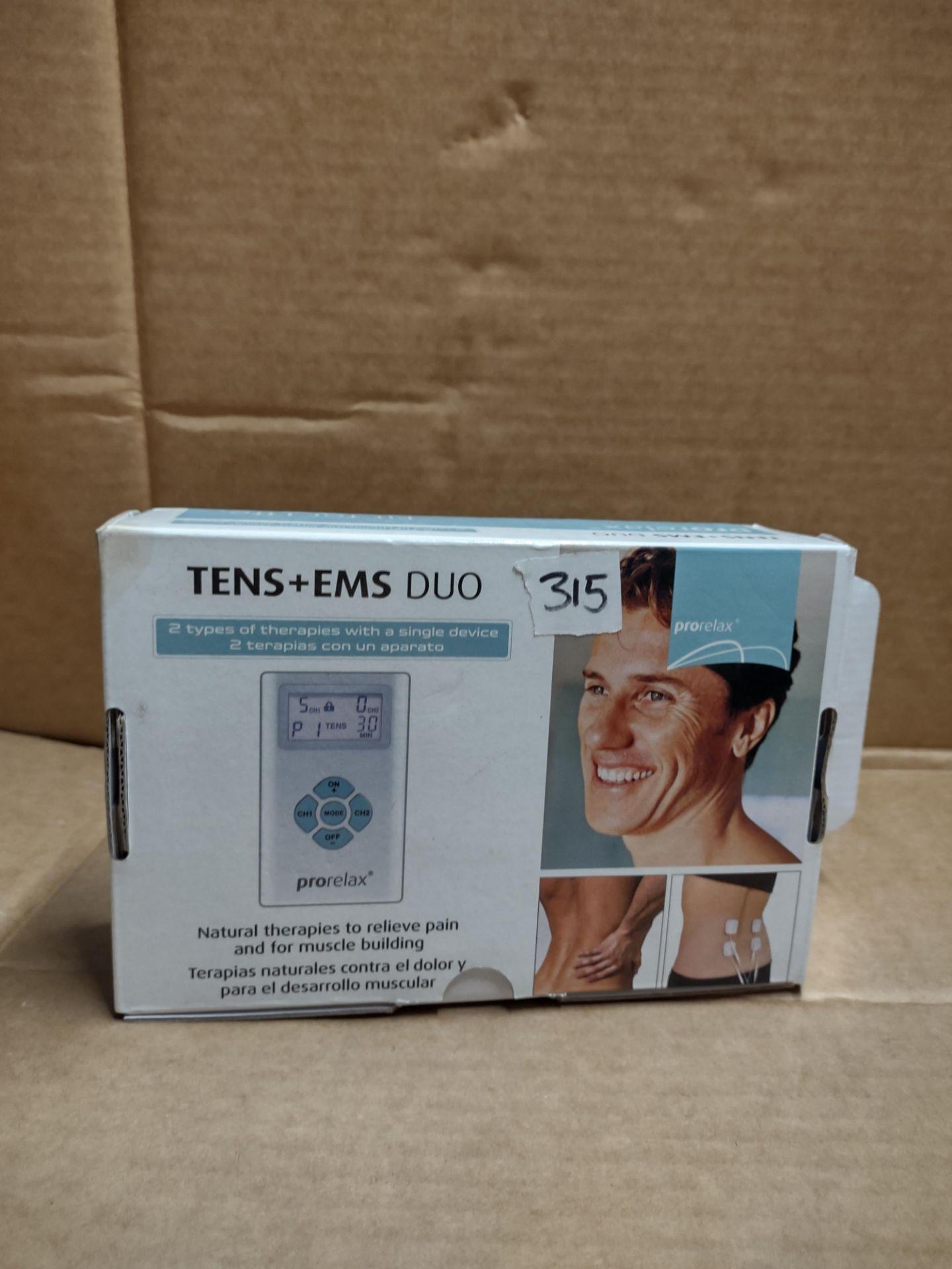 Tens + EMS Duo natural therapy machine RRP £40 Grade U
