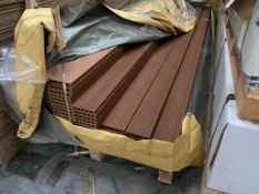 10 x Composite decking boards Colour Natural Brown