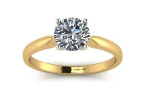 18k Yellow Gold Claw Set Diamond Ring 0.25 Carats