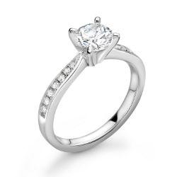 Platinum Wire Set Diamond Ring 1.19 Carats