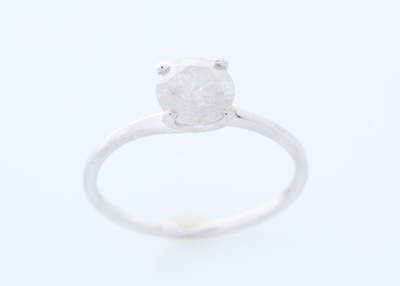 18k White Gold Wire Set Diamond Ring 1.05 Carats - Image 2 of 4