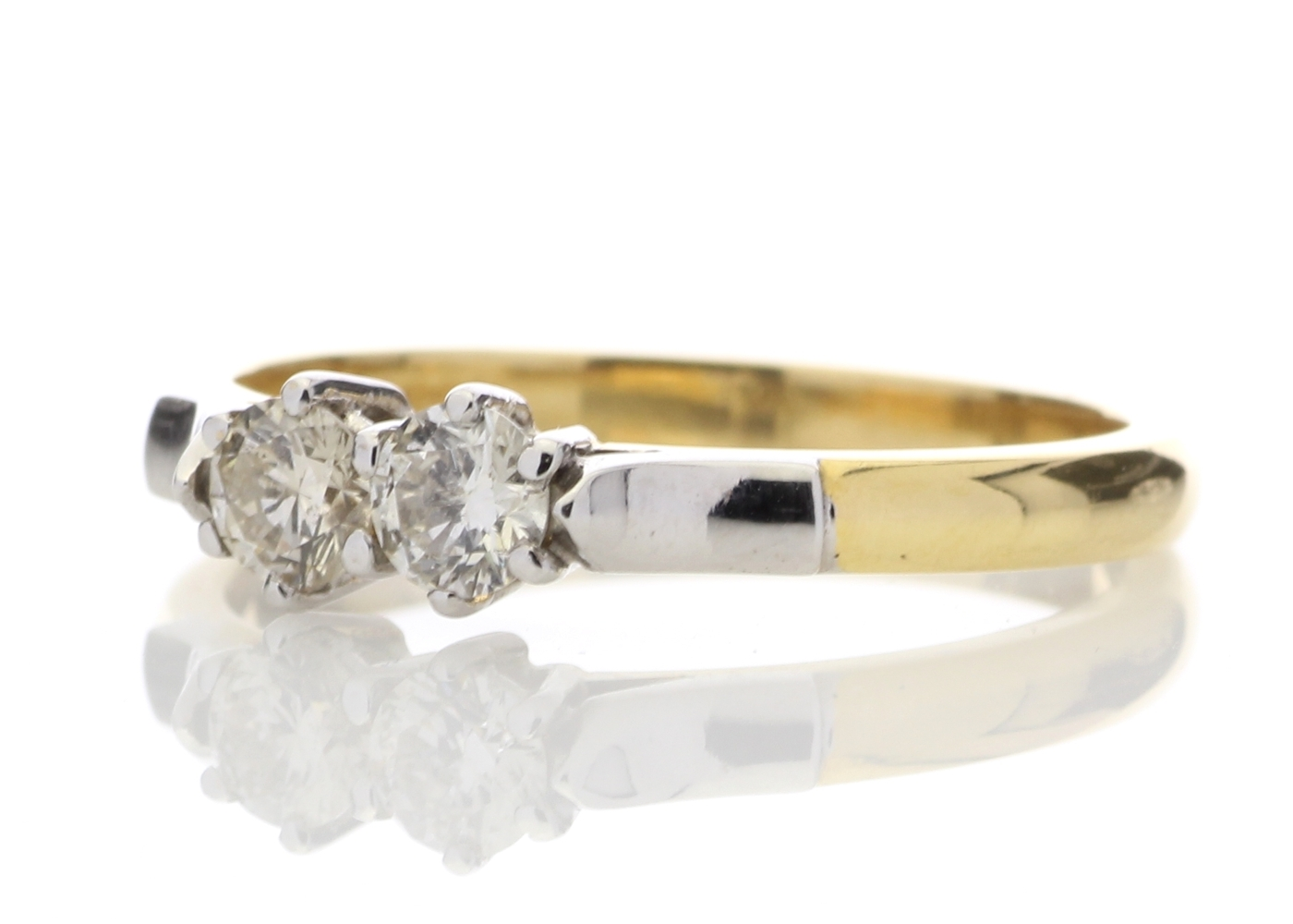 18k Two Stone Claw Set Diamond Ring 0.33 Carats - Image 2 of 5