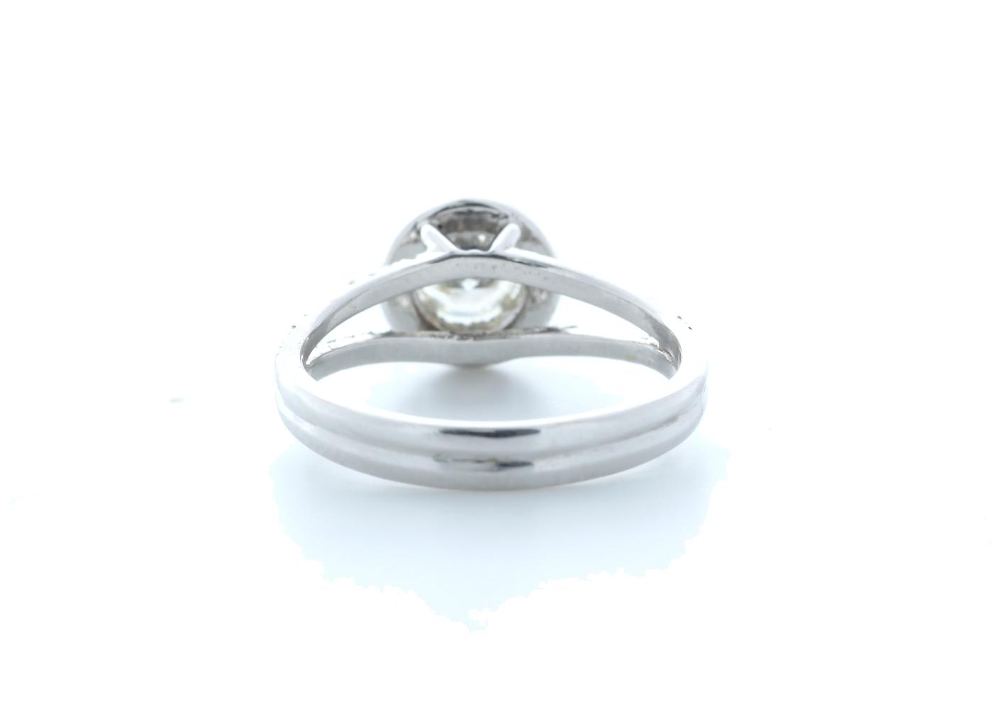 18k White Gold Single Stone With Halo Setting Ring 0.78 (0.45) Carats - Image 3 of 5