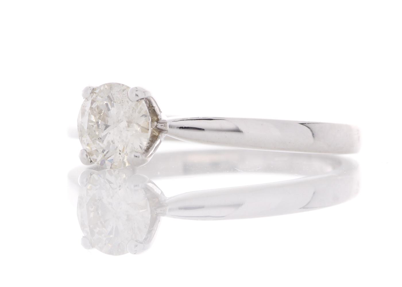 18k White Gold Prong Set Diamond Ring 0.57 Carats - Image 2 of 5
