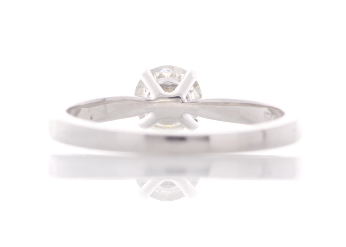18k White Gold Prong Set Diamond Ring 0.57 Carats - Image 3 of 5