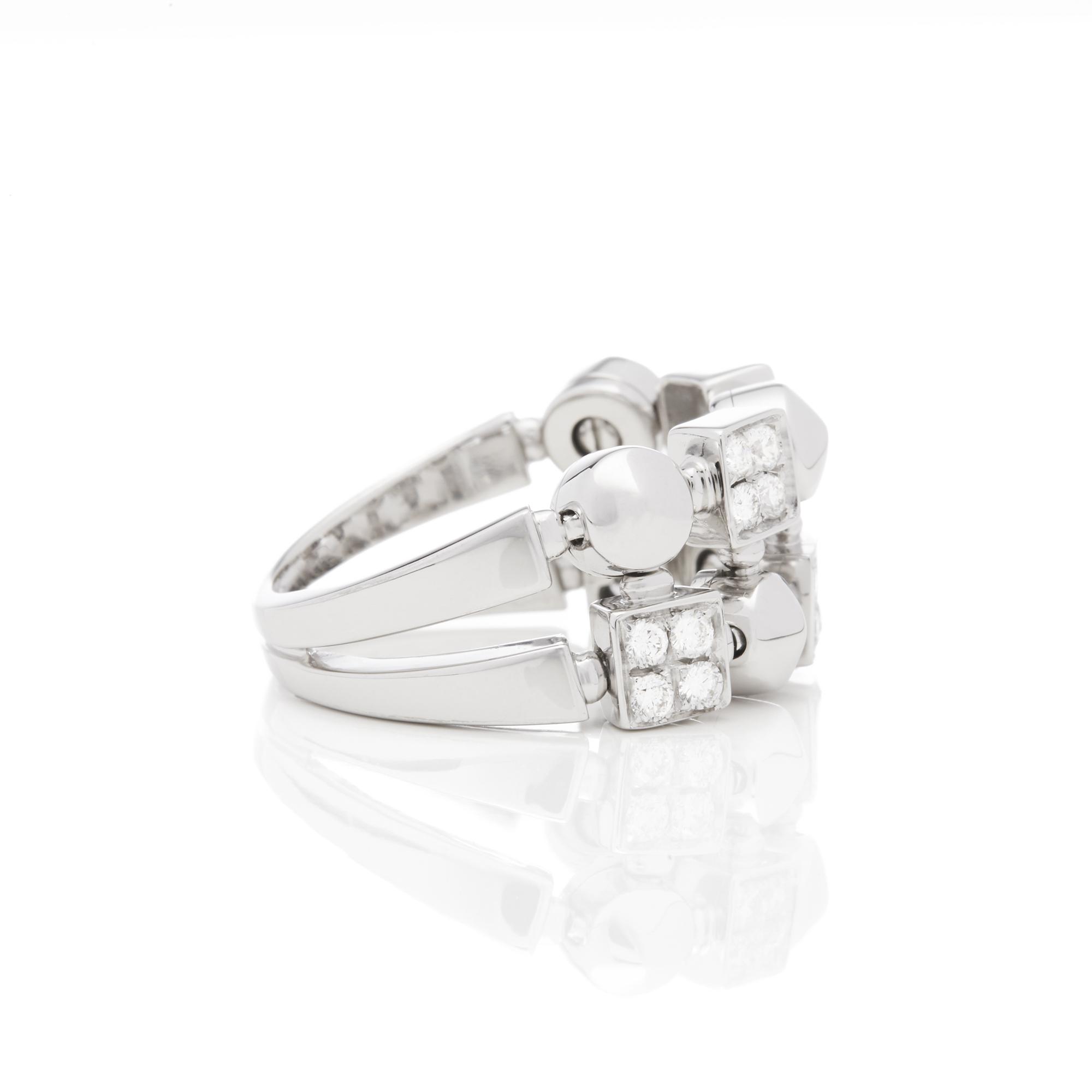 Bulgari 18ct White Gold Lucéa Diamond Ring - Image 6 of 7
