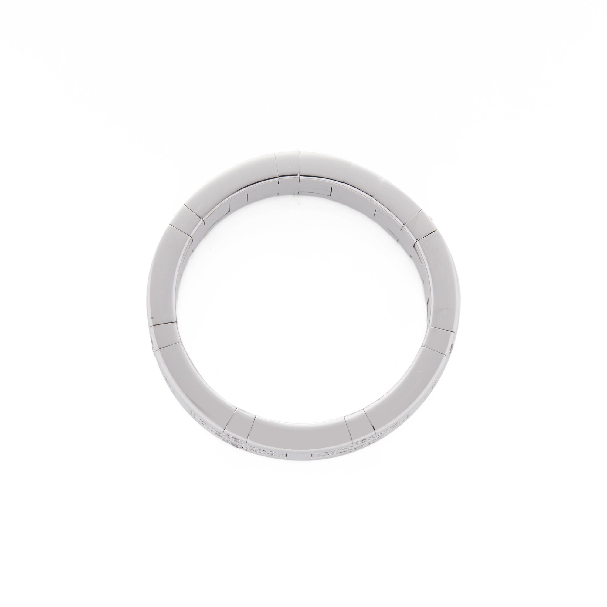Hermes 18ct White Gold Kilim Diamond Ring - Image 3 of 8