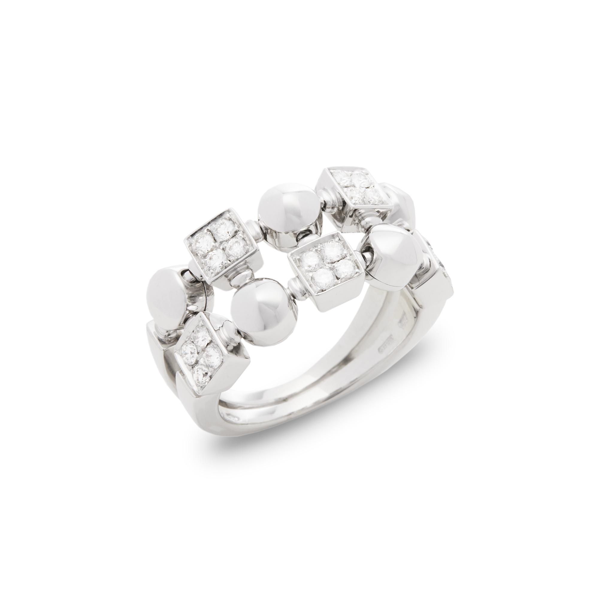 Bulgari 18ct White Gold Lucéa Diamond Ring