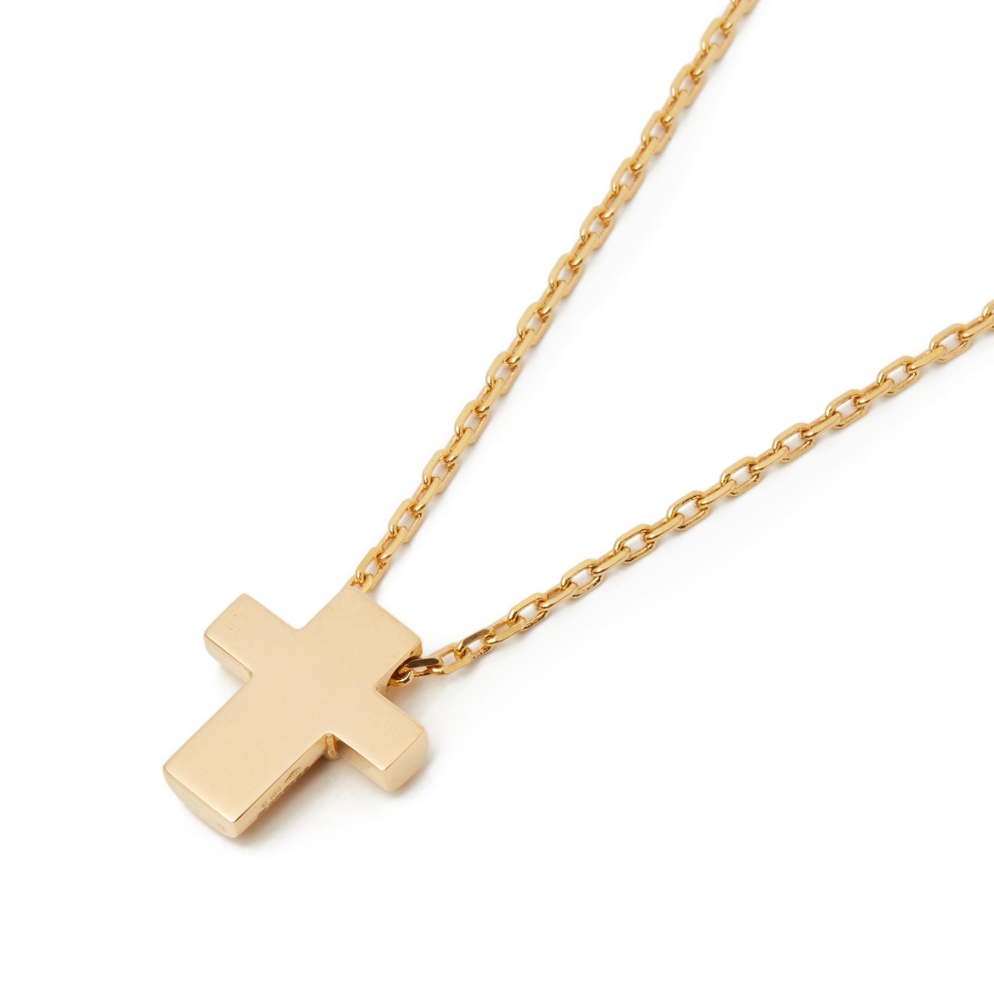 Asprey 18k Yellow Gold Cross Pendant Necklace - Image 8 of 8