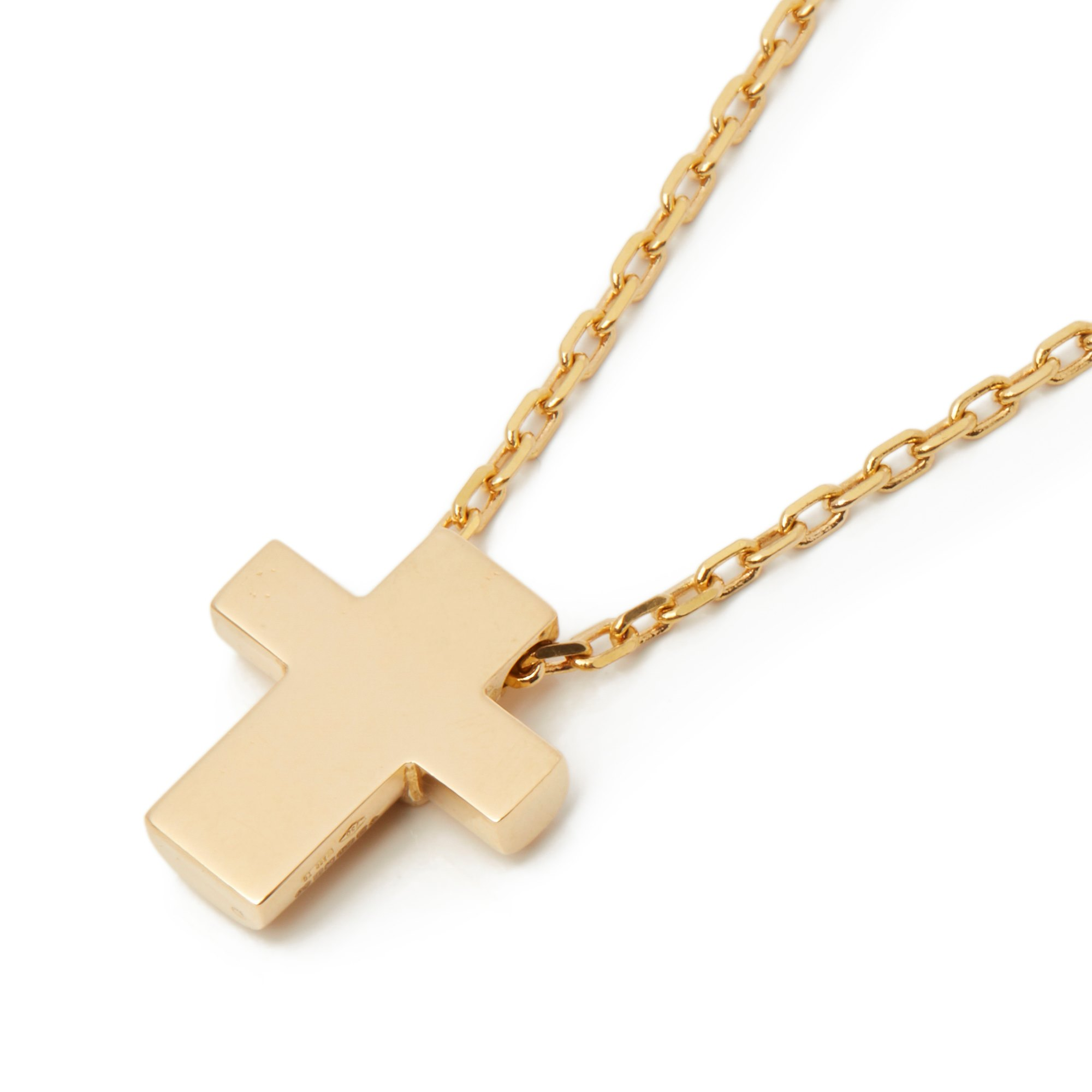 Asprey 18k Yellow Gold Cross Pendant Necklace - Image 7 of 8
