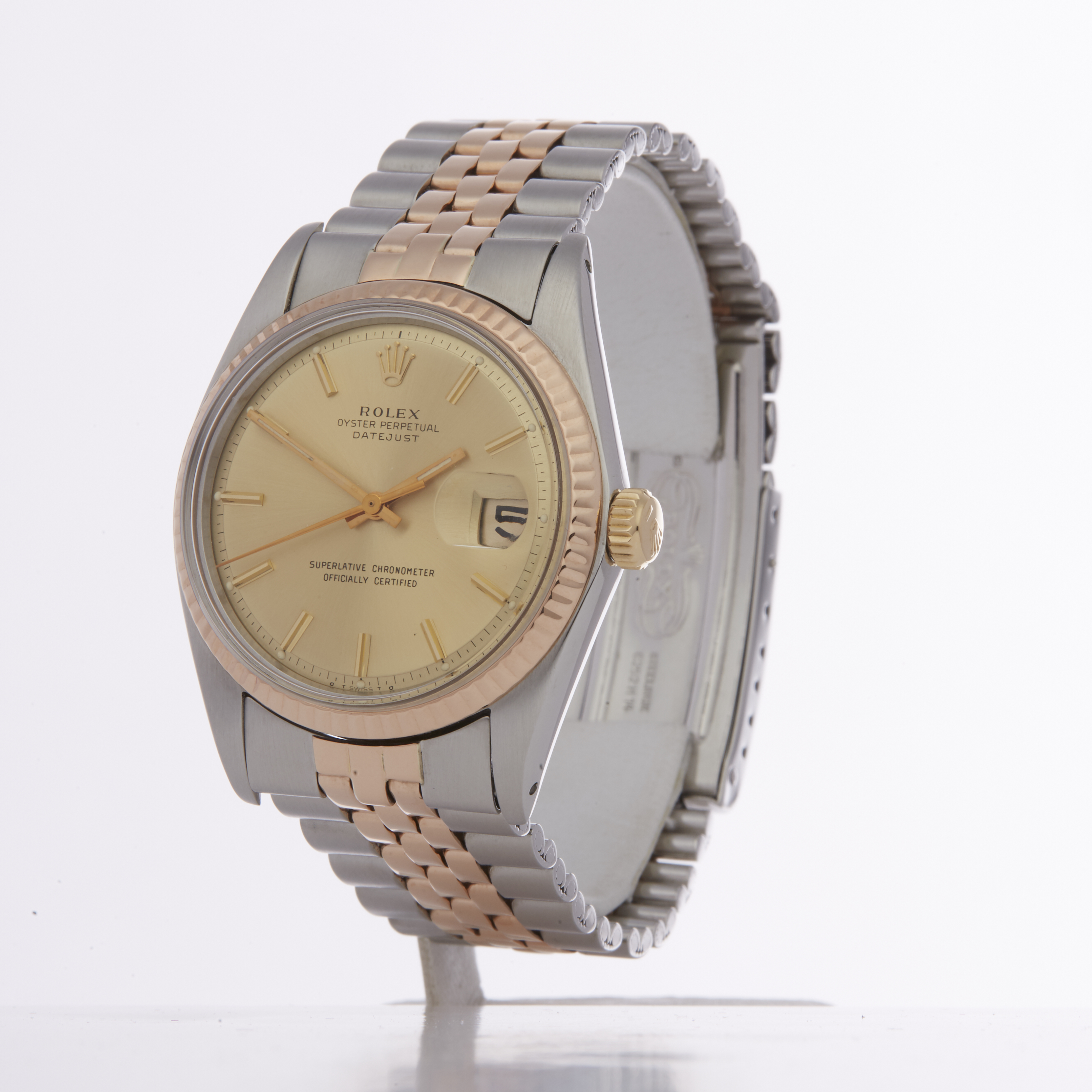 Rolex Datejust 36 1601 Men Rose Gold & Stainless Steel Watch - Image 6 of 6