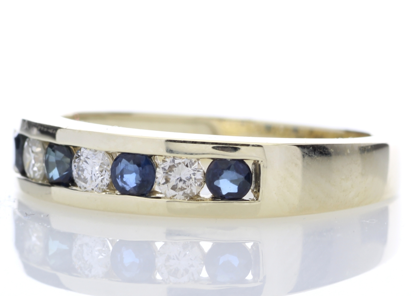 9ct Yellow Gold Channel Set Semi-Eternity Diamond Ring 0.25 Carats - Image 2 of 5