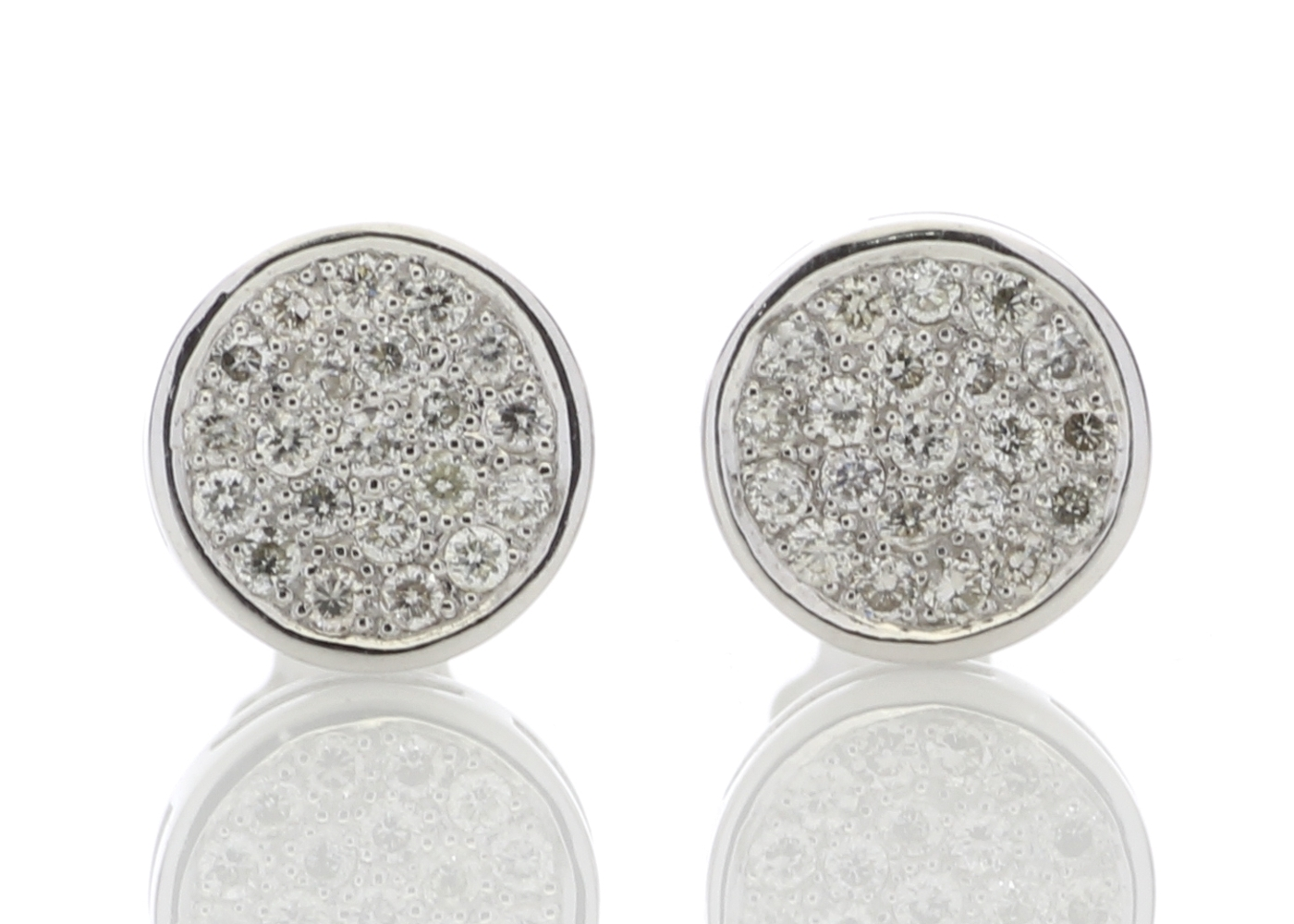 9ct White Gold Diamond Cluster Earrings 0.21 Carats