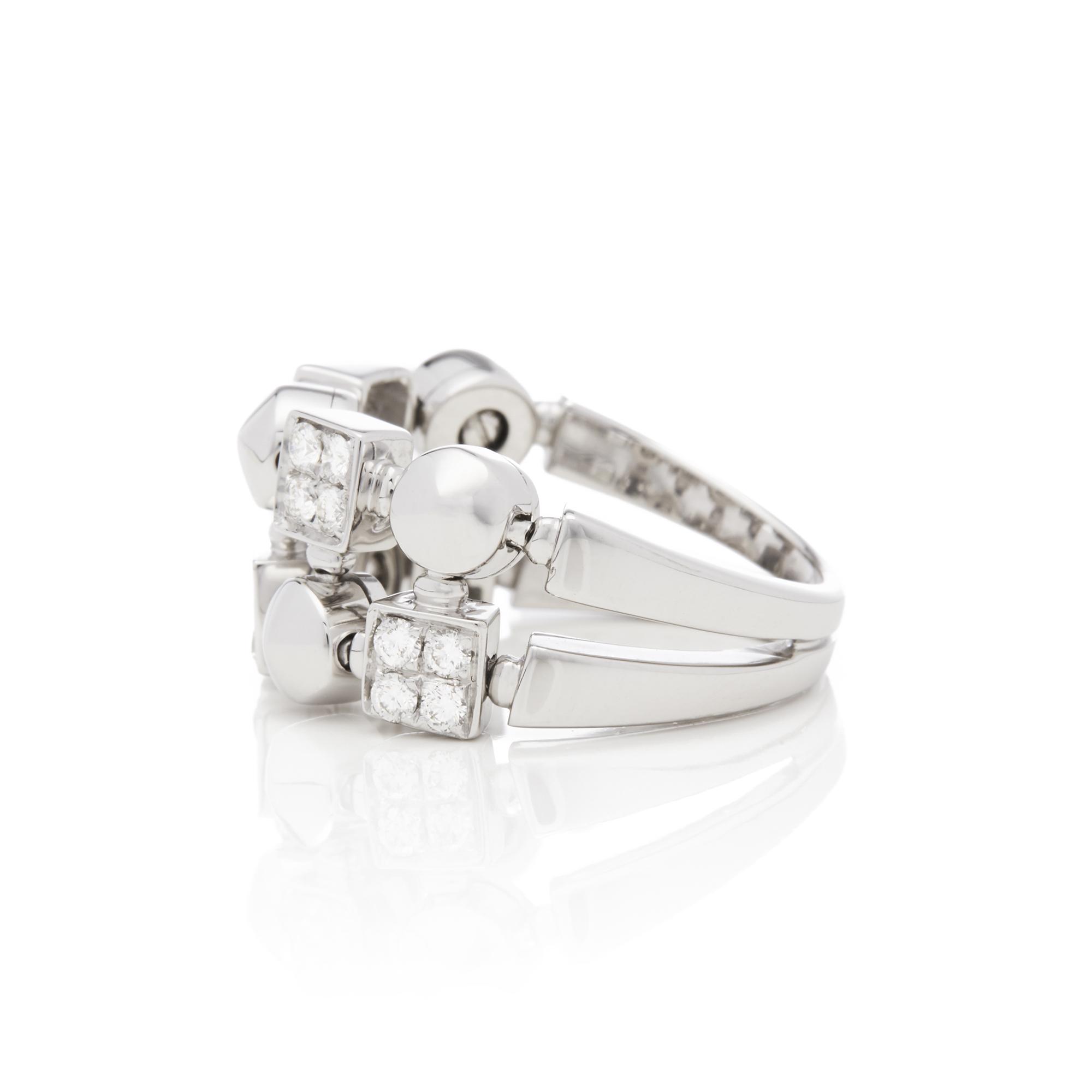 Bulgari 18ct White Gold Lucéa Diamond Ring - Image 5 of 7