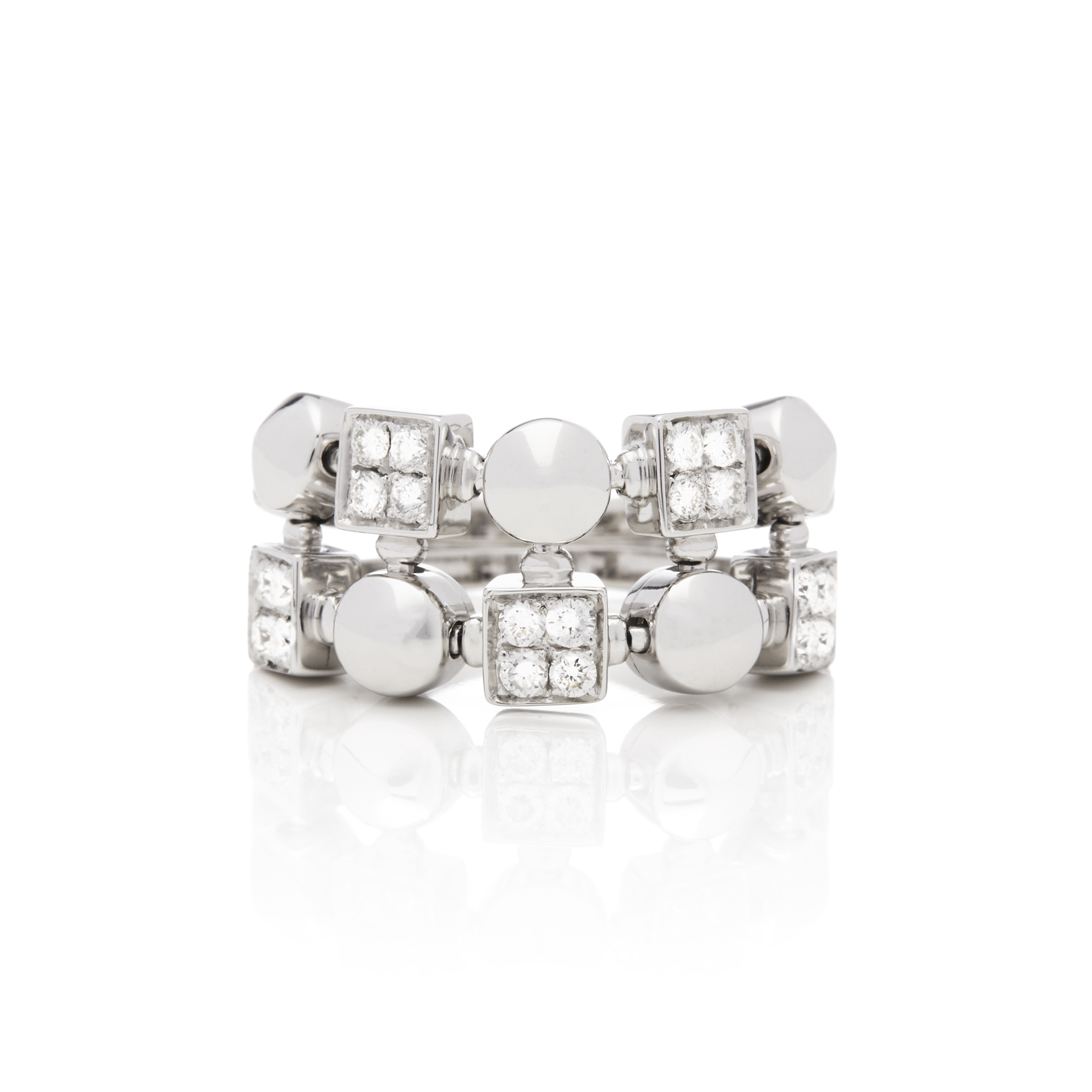 Bulgari 18ct White Gold Lucéa Diamond Ring - Image 7 of 7