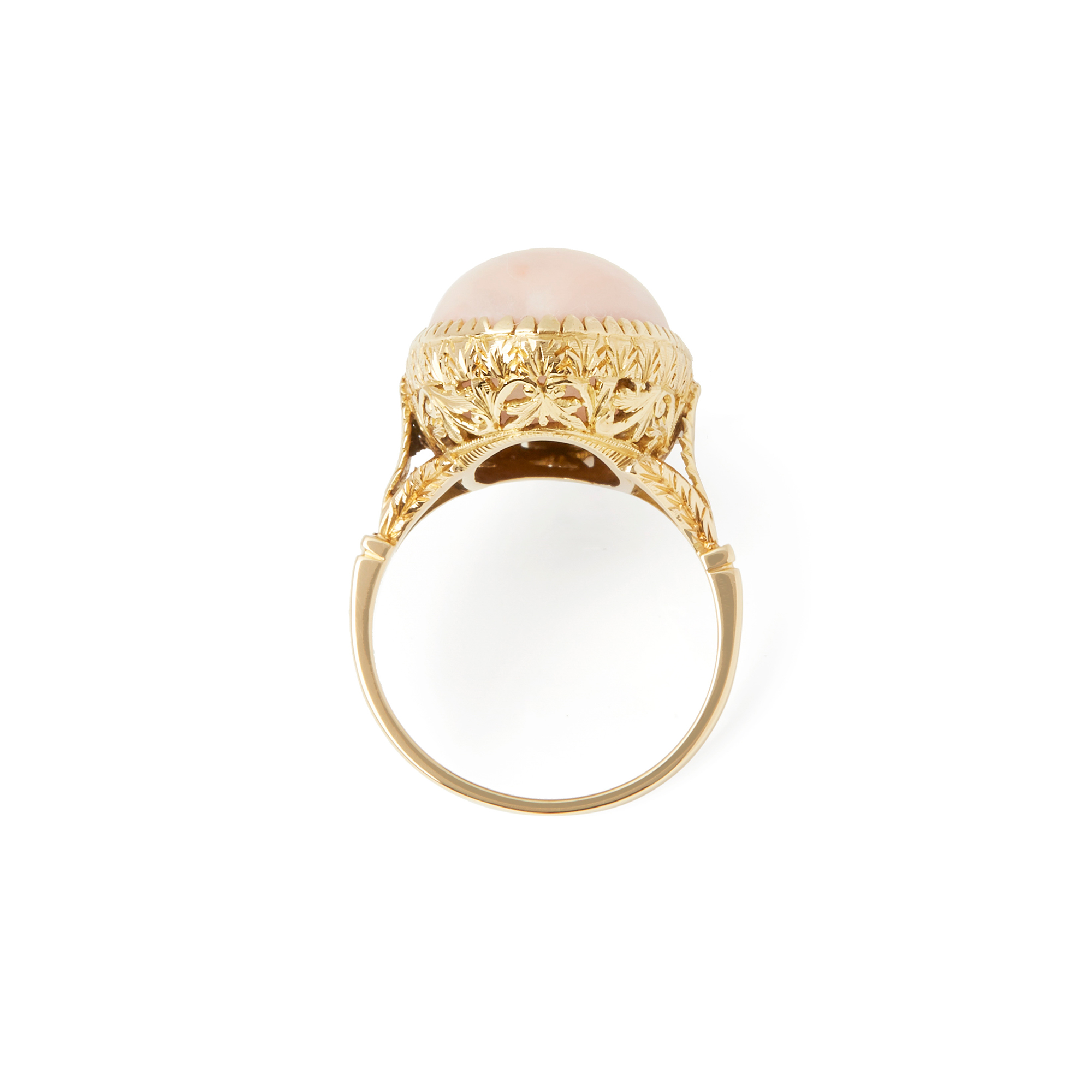 Unbranded 18ct Yellow Gold Pink Coral Ring - Image 3 of 6