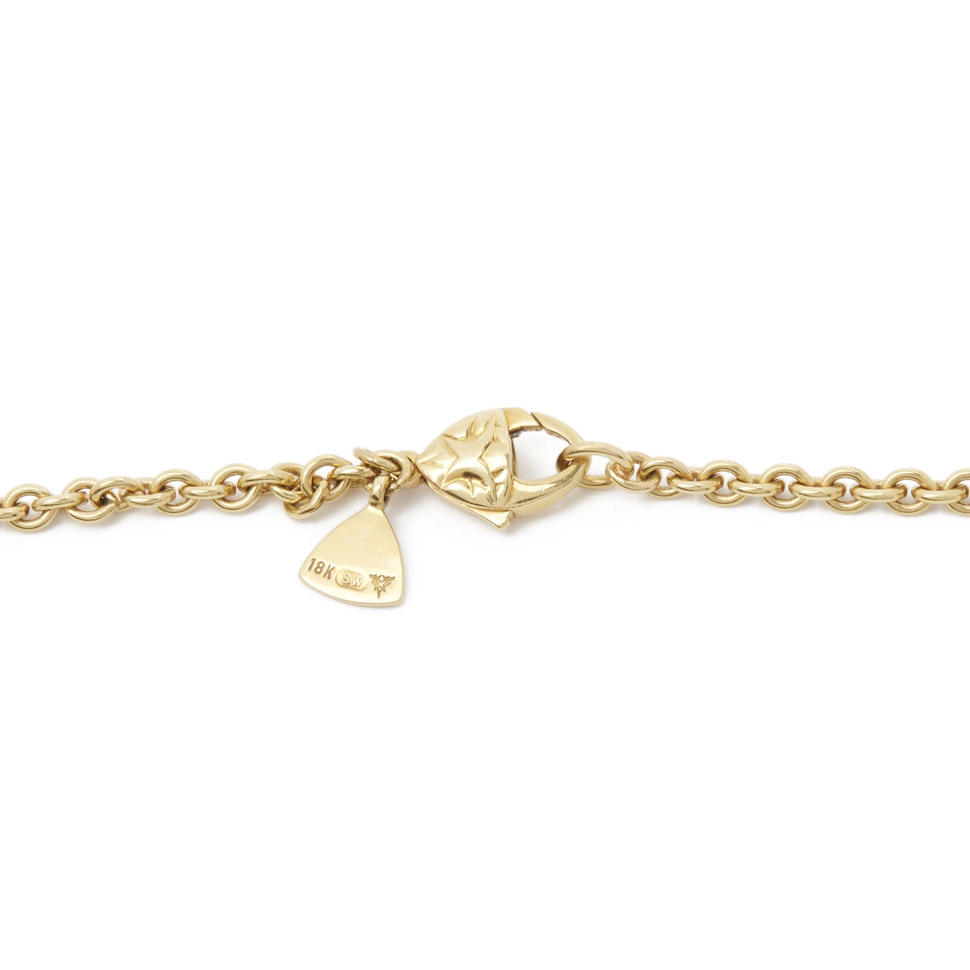 Stephen Webster 18k Yellow Gold Citrine & Diamond Crystal Haze Pendant Necklace - Image 7 of 8
