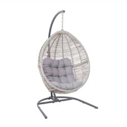 (R9D) 1x Florence Synthetic Rattan Hanging Chair RRP £280 (Appears Complete)