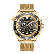 Limited Edition Hand Assembled Gamages Sports Timer Automatic Gold– 5 Year Warranty & Free Delivery
