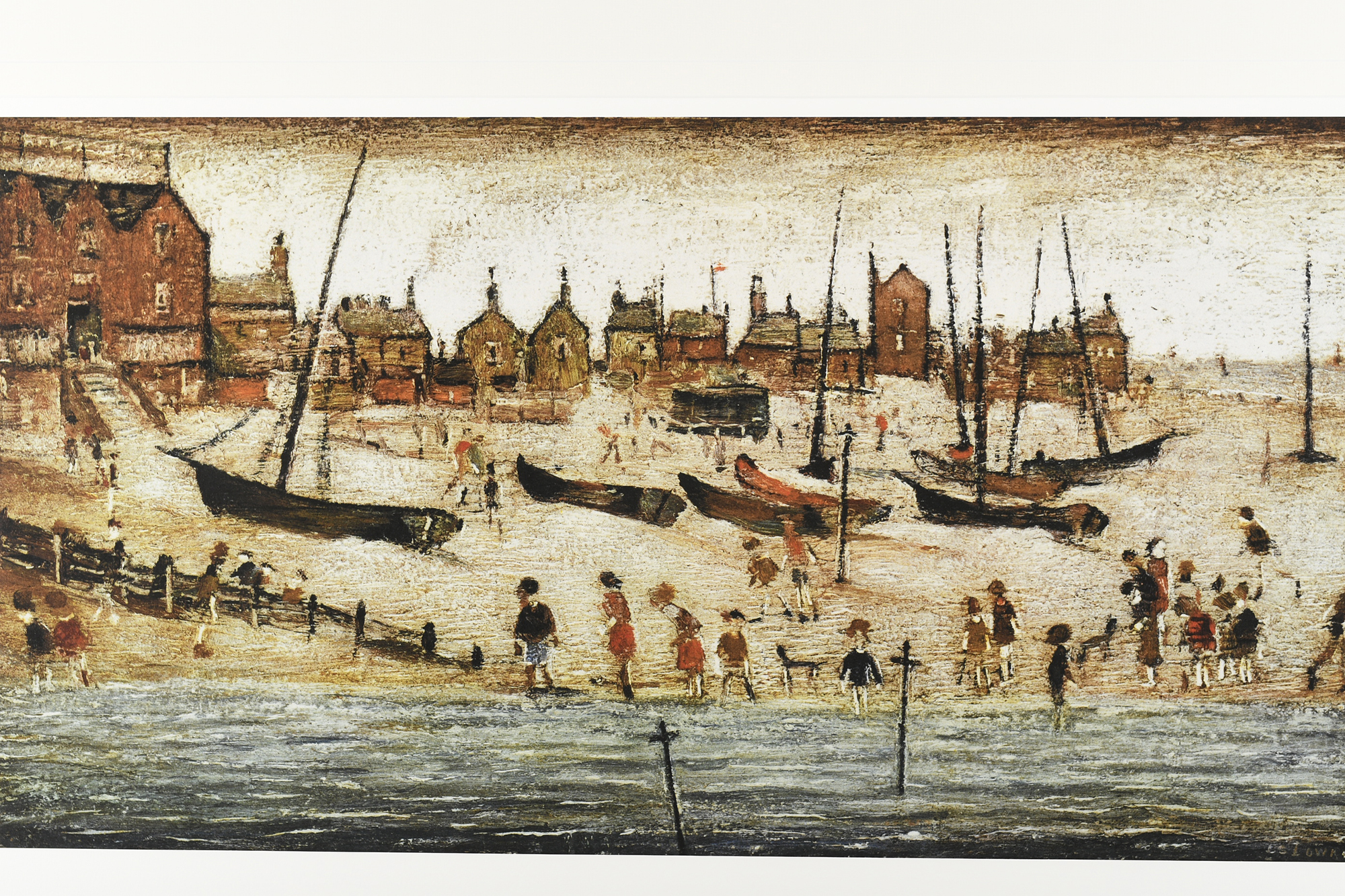 """Limited Edition L.S. Lowry """"The Beach"""" - Image 9 of 9"""