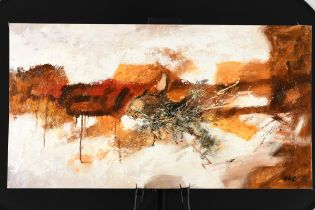 Contemporary Abstract Oil on Canvas Board.