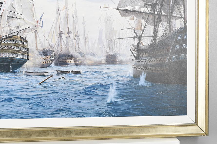 "Framed Limited Edition on Canvas by Marine Artist Steven Dews ""The Battle of Trafalgar"" - Image 11 of 14"