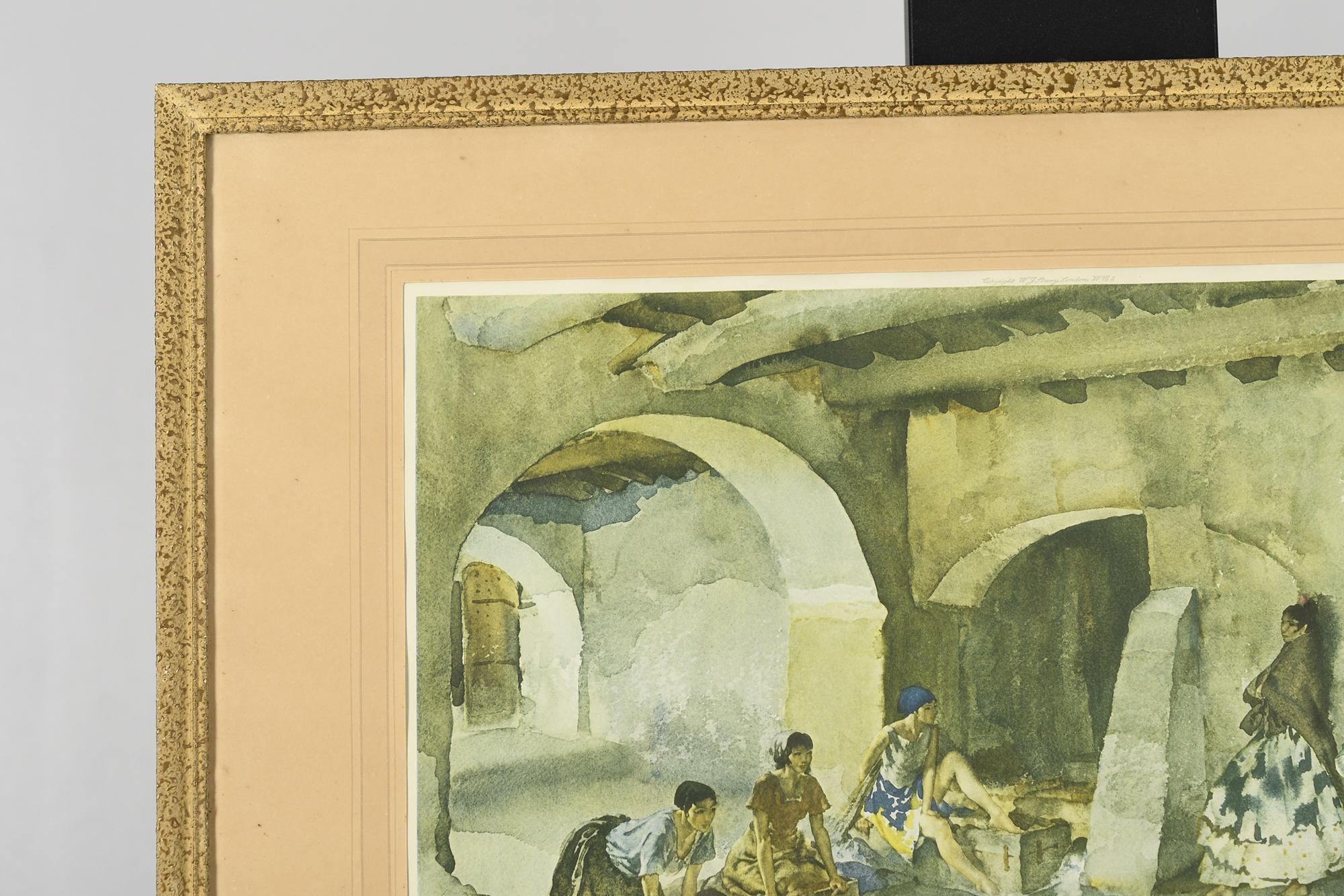 """Signed Limited Edition by Sir William Russell Flint """"Unwelcome Observers"""" - Image 6 of 8"""