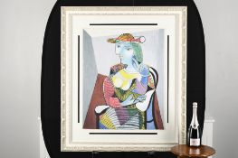 """Pablo Picasso Limited Edition on Silk """"Portrait of Marie-Therese, 1937"""""""